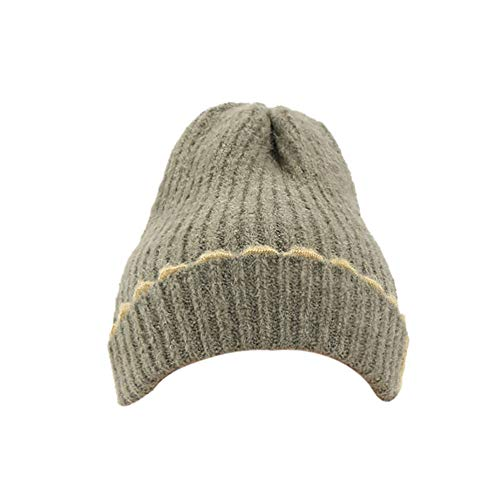 ZZBO Mütze Beanie Wintermütze Strickmütze Warme Mütze Damen Herren Plus Samt Hut Outdoor Cap Sleeve Unisex Ohrschutz Headgear Mode Wollmütze