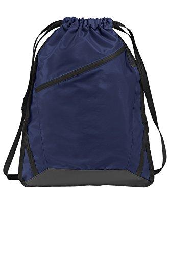 Port Authority® Zip-It Cinch Pack. BG616 True Navy/Black OSFA