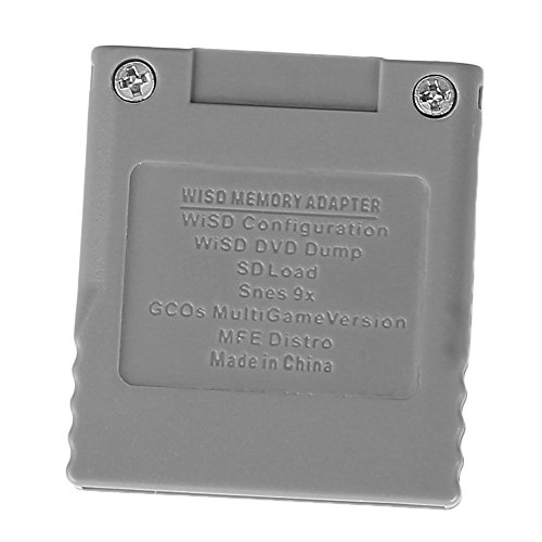 muxiao SD-Speicherkarte Stick Card Reader Converter Adapter für Nintend Wii Gamecube Console