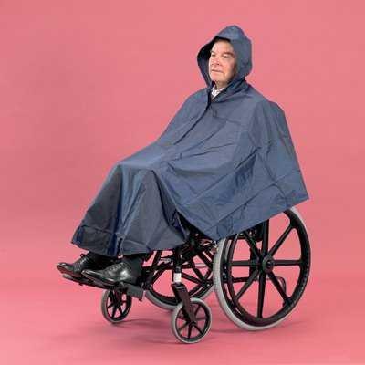 Regenponcho voor rolstoel