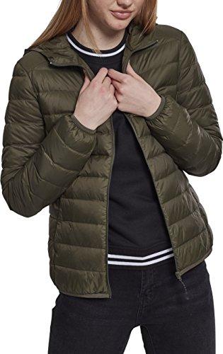 Urban Classics Damen Ladies Basic Hooded Jacket Jacke, Grün (Darkolive 00551), XXXX-Large (Herstellergröße: 4XL)