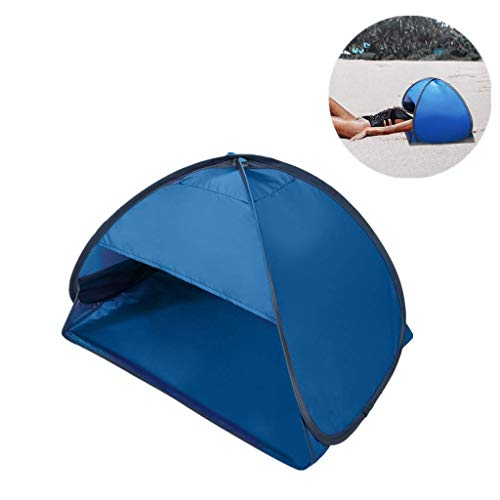 Sinerixc Pop Up Beach Tent Sun Shelter, Mini Portable UV Protection Beach Head Sunshade Tent, with Mobile Phone Stand Bag, Face Shade Canopy for Beach Sunbathing Camping Picnic