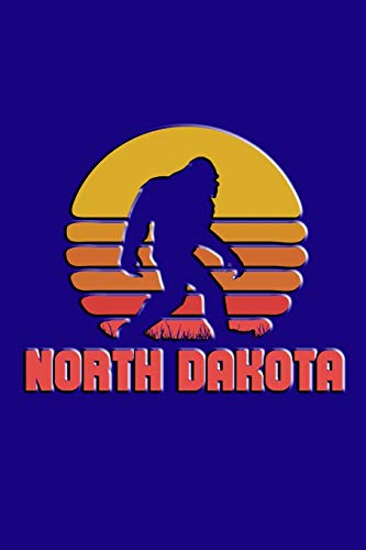 North Dakota: Bigfoot themed journal with names of States in America.