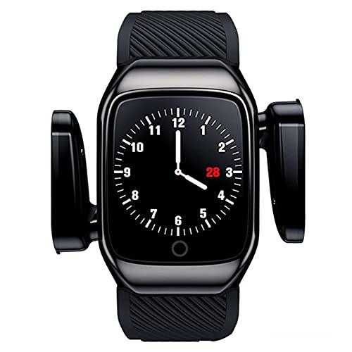 DLBJ Reloj Inteligente 2 En 1 con Auriculares Inalámbricos Bluetooth TWS, Pulsera Inteligente con Pantalla Táctil De 1,3',Rastreador Ejercicios Auriculares Combinados Pulsera con Música