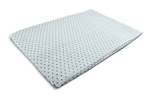 1buy3 Tela de punto estampada por metros   Diseño: puntos (antracita) sobre gris   50 cm x 160 cm   92% algodón, 8% elastano   Varios colores a elegir   Jersey