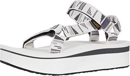 Teva Unisex Flatform Universal Sandal, CHARA Bright White, 7 US Women