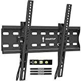 MOUNTUP Tilting TV Wall Mount Bracket for 26-55 Inch Flat Screen TVs/Curved TVs, Low Profile TV Wall Mount TV Bracket - Easy to Install On 12' or 16' Studs, VESA 400x400mm Weight up to 99 LBS, MU0007