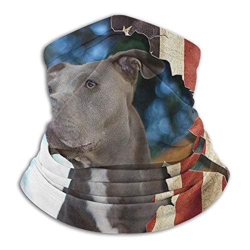 Calentador de cuello, pasamontaas, bandera americana, mscara de corrida de toros, clida, resistente al viento, multifuncional, bufanda de invierno para hombres y mujeres