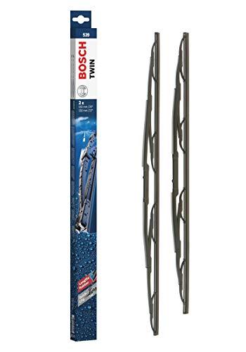 Bosch Twin Escobilla limpiaparabrisas 539, Longitud: 650 mm/550 mm – 1 juego para el parabrisas (frontal)