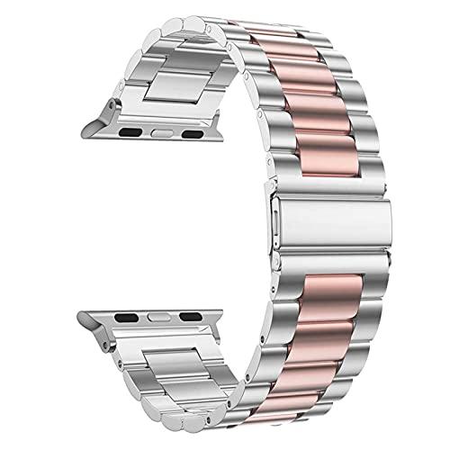 HENHEN Jun Store - Correa de acero inoxidable para Apple Watch de 42 mm, 38 mm, 1/2/3/4, correa de metal para reloj IWatch Series 4, 5, 44 mm, 40 mm