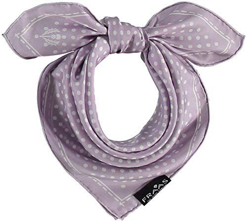 FRAAS Halstuch Damen gepunktet - 53 x 53 cm Größe - Nickituch Seide - Seidentuch für Damen mit Polka Dots Muster - Bandana Tuch perfekt für den Sommer Lavendel
