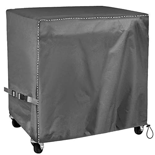 Mr.You Cooler Cart Cover - Universal Fit for Most 80-100 QT,Waterproof Thickened Fabric,Rolling Cooler (Patio Cooler,Beverage Cart, Rolling Ice Chest) Protective Cover (Black)