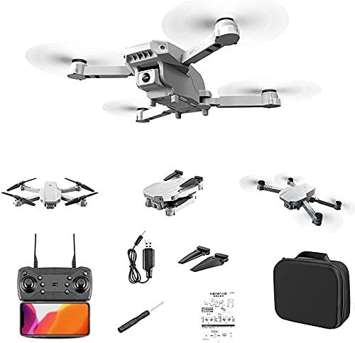 rzoizwko Drone, Mini Drone con Control Remoto con cámara Dual 4K HD, Drones portátiles Plegables WiFi FPV Altitude Hold Mode Quadcopter con Luces LED Drone Toy para Regalo de niños
