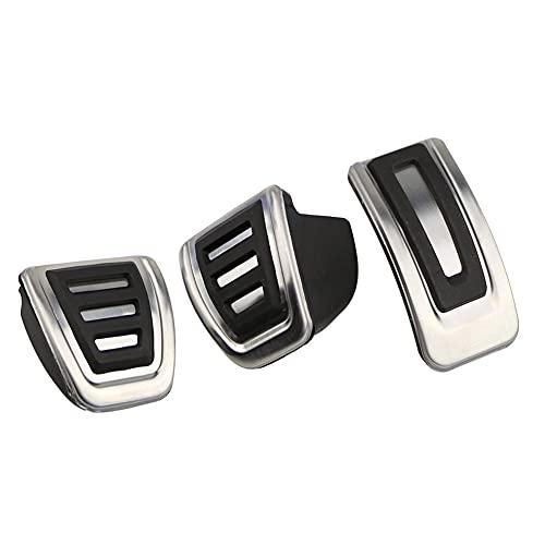 YHDNCG Cubierta de Pedal de Coche, Almohadilla de Freno de Freno, Pedal de Acelerador de Coche, Cubierta de Pedal de Freno de Embrague, para Audi A6 C7 / S6 4G A7 2010-2015