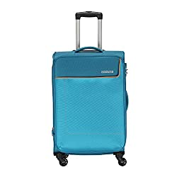 American Tourister Polyester 80 cms Turquoise Softsided Check-in Luggage (AMT JAMAICA SP 80CM TURQ),Samsonite,AMT JAMAICA SP 80CM TURQ