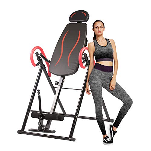 Amazing Deal LUCKYERMORE Inversion Table Home Fitness Workout Equipment Heavy Duty Adjustable Height...