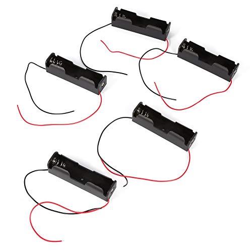 Zerone 5 pcs Plastique Ressort Pince Batterie Support boîte de Rangement pour 1 x 18650 Batterie avec Fils conducteurs Rechargeables