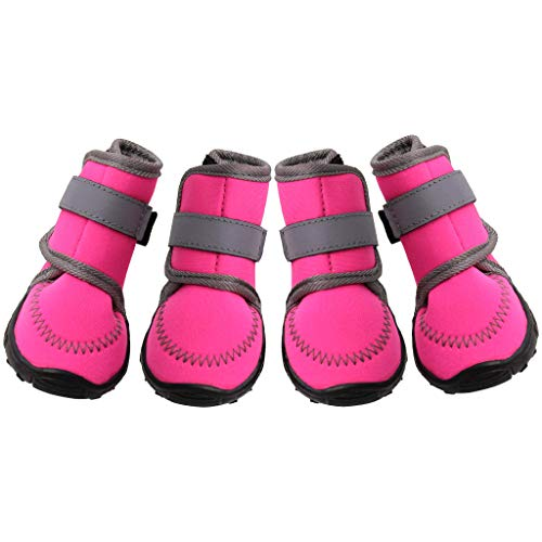 PROTAURI Dog Boots Dog Shoes Paw Protector Pet Anti-Slip Waterproof Breathable Outdoor