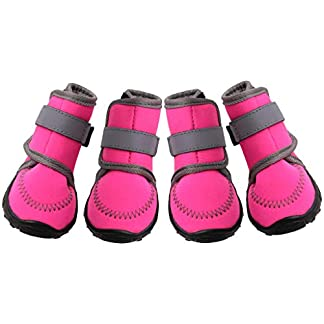 Dog Boots Dog Shoes Walking Protector - Anti-Slip Footwear Paw Protective Boot Waterproof Dog Socks with Velcro Pet Accessories for Small Medium Dog Outdoors 14