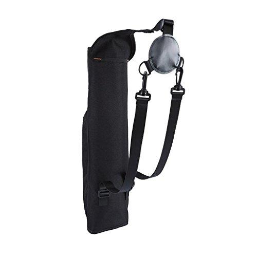 Outdoor Bogenschießen Köcher - Pfeile Halter Pfeilköcher Rückenköcher mit Verstellbarem Schultergurt, Jagd Sport Köcher (Schwarz)