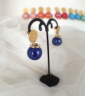 orecchini ceramica, orecchini palla, orecchini sfera