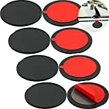 8 Piece Disc Dashboard Pad Suction Cup Mounting Disc Adhesive Dashboard Mount Disc Stick on Universal Dash Mount Pad for Suction Cup Phone Mount, GPS Suction Mount, Sat Nav Dash Cam Holder (3.2 Inch)