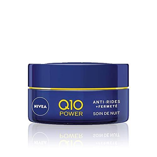 NIVEA Q10 Power Soin de Nuit Anti-Rides + Fermeté (1x50ml), crème anti-âge enrichie en Q10 & 10 X plus de créatine, crème hydratante, soin visage femme régénérant