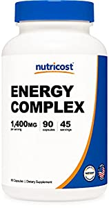 Super Energy Complex 90 Capsules Per Bottle 45 - 90 Servings (If taken according to recommendations) Easy To Take Vegetarian Capsules Non-GMO, Gluten Free, and Made in A GMP Compliant, FDA Registered Facility