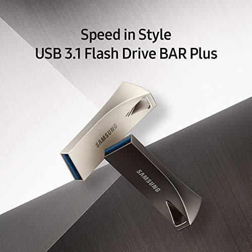 SAMSUNG BAR Plus USB-Stick (128 GB – 400 MB/s, USB 3.1, Titangrau (MUF-128BE4/AM)