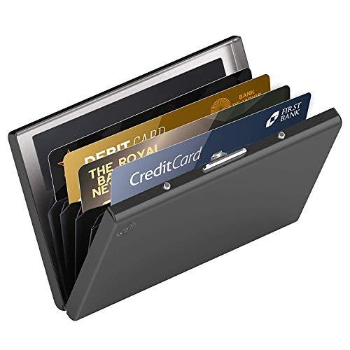 Hochwertiges Edelstahl Kartenetui Ideal Als Kreditkarten Visitenkarten Etuis Rfid Blocker Kreditkartenetui Slim Wallet Visitenkartenetui Mini