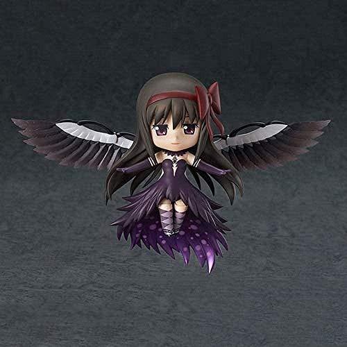 Akemi Homura Modelo Magical Girl Time Stop Puella Magi Madoka Magica Anime Modelo Demon Flame Personaje estático Exquisitos coleccionistas Modelo PVC Material 10cm Chasis Decoración-4