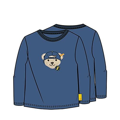 Steiff Longsleeve T-Shirt, Azzurro, 80 cm Bambino