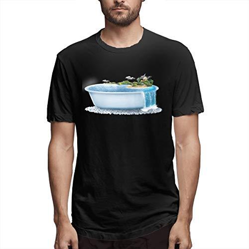 Hemd Haikou Badewanne Kreativität Kreatives Seaview Resort Aadbd Herren Baumwolle lässiges T-Shirt