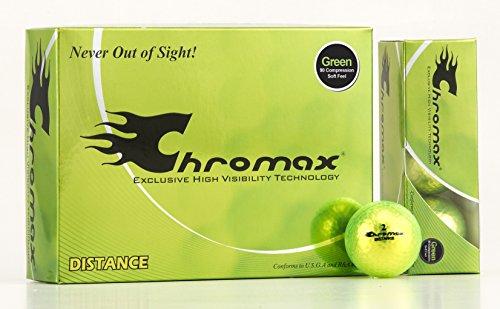 Chromax High Visibility Distance Golf Balls, Green