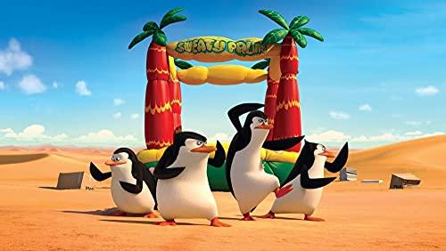 Película Pingüinos De Madagascar Cuadros Por Numeros De Pintura De Bricolaje, Adecuado Para Principiantes Y Niños, Fácil De Pintar En Lienzo De-40 x 60cm