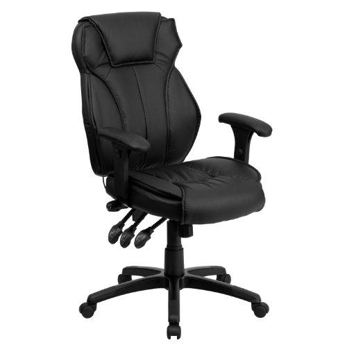 Flash Furniture High Back Black Leather...