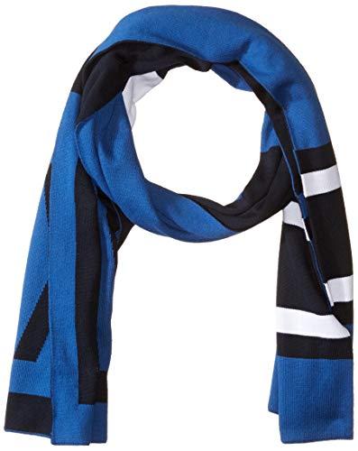 Armani Exchange AX Herren Two-color Scarf with A|X Logo Schal für kaltes Wetter, True Blue/Navy, Einheitsgröße