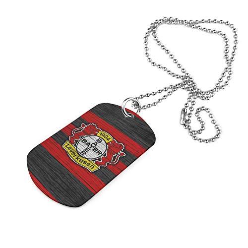 Y Y Y Ba-Yer Lever-Kusen Armee Marke Halskette Druck Halskette Eisen Halskette Trend Mode