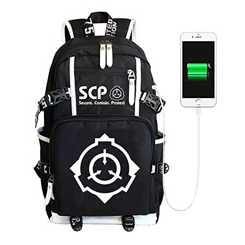 SCP Containment Breach Backpacks Lässiger Rucksack Schulrucksack Fashion Backpack Printed Travel Bag Outdoor Sportrucksack (Color : A01, Size : 30 X 14 X 46cm)