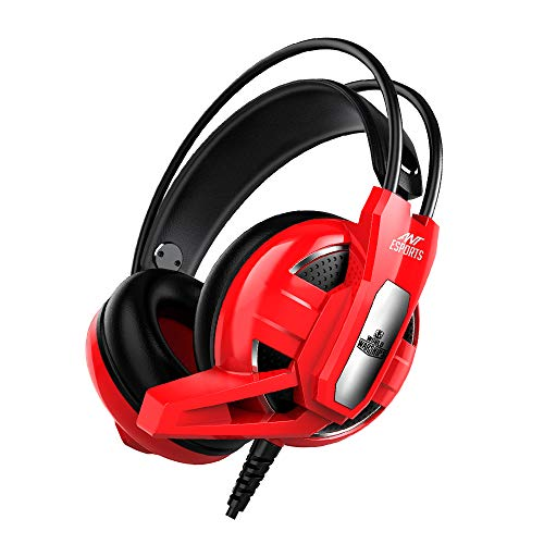 Ant Esports H520W World of Warships Edition Wired Gaming Headset for PC / PS4 / Xbox One/Nintendo Switch/Computer and Mobile – Red