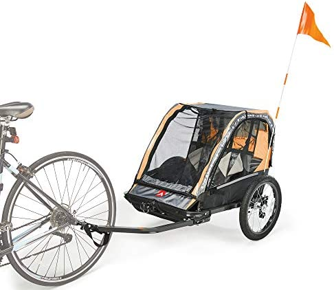 Allen Sports Deluxe Steel 2 Child Bicycle Trailer and Stroller Model AS2 O Orange product image