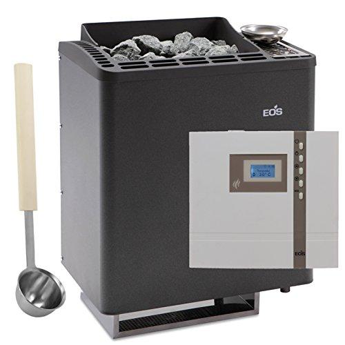 Saunaofen Set EOS Bi-O Tec mit Sauna-Steuerung Econ H1 und exklusive Edelstahl Kelle (6,0 kW)