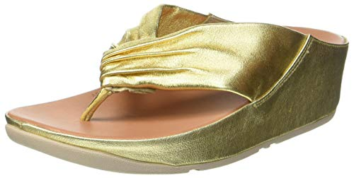 Fitflop Twiss, Sandales Bout ouvert Femme, Or (Gold Artisan Gold 667.), 36 EU