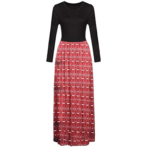 Dicomi Party Kleid 2020 Weihnachtspullover Mode Damen Elegant Frühling Kleid Abendkleid Cocktailkleid Bequem Casual Lose Lange A Linie Maxi Kleid mit Taschen