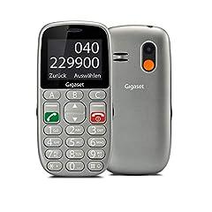 Gigaset GL390 GSM mobiele telefoon zonder contract voor senioren (met SOS-functie, comfortabele apparatuur, kleurendisplay 2,2 inch, mobiele telefoon met extra grote enkele knoppen voor eenvoudige bediening) titanium-zilver*