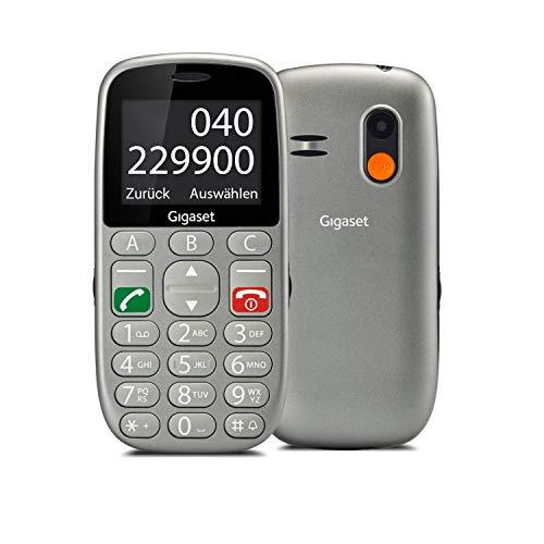 Gigaset GL390 GSM Handy ohne Vertrag für Senioren (mit SOS-Funktion, Komfortable Ausstattung, Farbdisplay 2,2 Zoll, Mobiltelefon mit extra großen Einzeltasten zur einfachen Bedienung) titan-silber