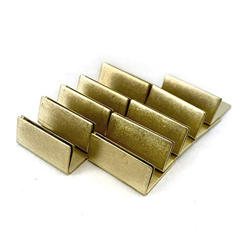 Japanese Brass Card Stand Normal Size 10 Pack Business Card Postcard Holder