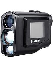 suaoki 600m レーザー距離計 携帯型レーザー距離計 ゴルフ用 光学6倍望遠 LCD液晶モニター内蔵 操作簡単 コンパクト