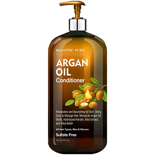 Majestic Pure Argan Oil Conditioner for Hair - for All Hair Types, Women and Men, Sulfates Free, Parabens Free - Ideal for Daily Use - 16 Fl Oz