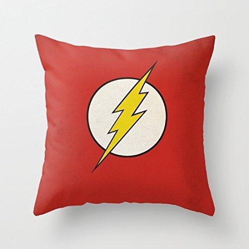 Ploekdu Flash Minimalista Rojo Divertido Fundas de Almohada Decorativo Accent Almohadas Funda de 18x 18para sofá